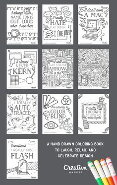 colouring book for designers