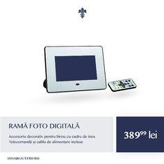 Tehnologia evoluează, amintirile rămân neschimbate. O ramă foto digitală cu o notă subtilă de modernism.   Vezi detalii pe http://www.iosabijuterii.ro/cadouri/rama-foto-digitala-inox/ »