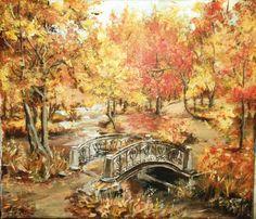 Automne doré Vintage Art, Painting, Autumn Fairy, Acrylic Board, Painting Classes, Landscape, Artist, Water Colors, Painting Art
