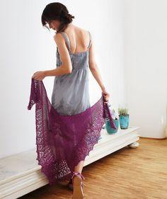 Ladies Scarf - free knit pattern pdf