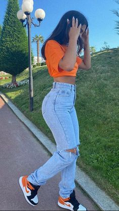 Glamouröse Outfits, Baddie Outfits Casual, Cute Swag Outfits, Indie Outfits, Teen Fashion Outfits, Retro Outfits, Stylish Outfits, Urban Fashion Girls, Sporty Outfits