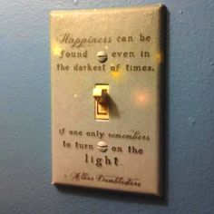 Dumbledore light switch.