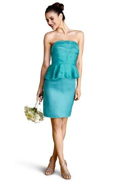 Donna Morgan Tiered Peplum Silk Sheath Dress available at Nordstrom