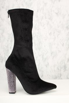 b34a0140d92f Sexy Grey Side Lace Up Mid Calf Chunky High Heels Booties Faux Suede ...