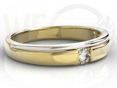 Pierścionek z białego i żołtego złota z diamentem / Ring made from white and yellow gold with a diamond / 1365 PLN #ring #gold #diamond #diament #bizuteria #jewellery #jewelry #zloto #pierscionek #engagement_ring