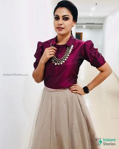 Beautiful Photos & Mobile Wallpapers HD (Android/iPhone) Anusree Beautiful Photos & Mobile Wallpapers HD (Android/iPhone) Anusree Beautiful Photos & Mobile Wallpapers HD (Android/iPhone) - 12 Silk Dresses Design You Should Try If You Love Ethnic Fashion Stylish Dress Designs, Fancy Blouse Designs, Stylish Dresses, Fashion Dresses, Long Skirt Fashion, Fashion Top, Ethnic Fashion, Lengha Blouse Designs, Choli Blouse Design