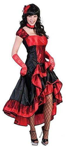 Western Saloon Girl Chrystal Gr. 44 46 - Sexy Wilder Westen Kostüm für Damen zu Karneval Fasching oder Mottoparty