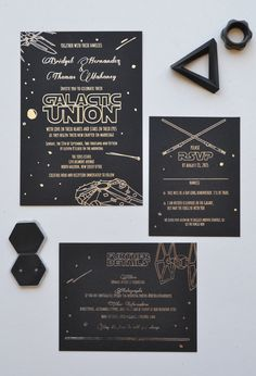 Star Wars wedding suite, designed and printed by Ladybones Print Shop. All…