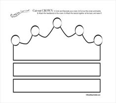 Free Printable Cut Out Crown Coloring Page