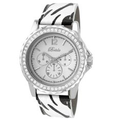 Breda Women's 8223-zebra Torrie Sophisticated Safari Inspired Watch Breda. $29.40. Zebra pattern band with buckle. Polished rhinestone encrusted bezel. Water-resistant - not recommended to take into deep water or shower. White dial with non-working sub dials silver arabic numerals and hands. Highest standard quartz movement. Save 30%!