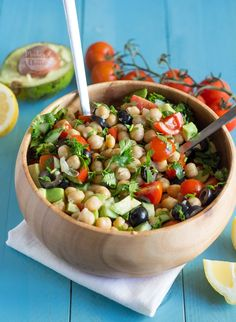 Salada de grão e abacate - Made by Choices
