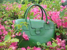 ESTEFAN Green Mateo 14'' Handbag