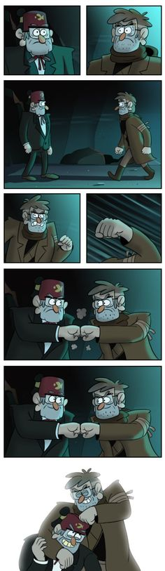 Welcome back, brother by markmak on DeviantArt my two fav old men XD man i love they two so much
