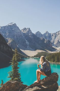 Mountain girl at Moraine Lake. Image by Man & Camera