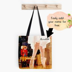 Clara and Nutcracker Ballet Bag Tote Bag by ChezLorraines on Etsy