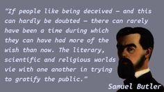 Samuel Butler (novelist) - Deception