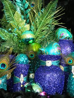 Peacock Wedding Decorations Peacock Centerpiece by KPGDesigns, $39.00
