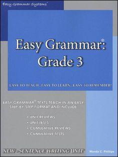 Easy Grammar Grade 3 Teacher Edition