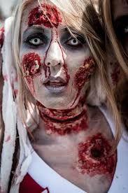 Night of the Running Dead, Utah State Fairgrounds, Salt Lake City, Utah Zombie Costume Women, Zombie Cheerleader Costume, Horror Costume, Horror Makeup, Zombie Makeup, Scary Makeup, Zombie Prom, Zombie Walk, Haunted House Makeup