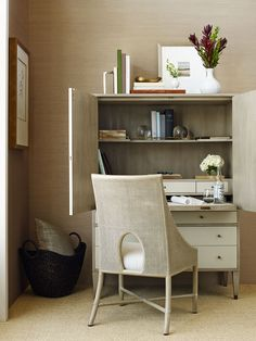 I need this in my life - Social Study in grey hued low-sheen Dune finish | Barbara Barry Collection | Baker Furniture