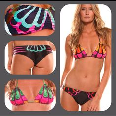 Doll yourself up in Dragonfly from Maya Swimwear's 2012 Collection in Curaçao, Orchid, and Emerald! Buy it now on www.mayaswimwear.com #mayalove #mayaswimwear #bikinis #color #spring