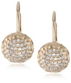 """Amazon.com: Phillips Frankel """"Affair"""" Rose Gold Diamond Dangle Earrings"""
