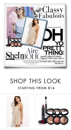 """""""Dress SHEIN"""" by sarah-malinu ❤ liked on Polyvore featuring Laura Geller and Burberry"""