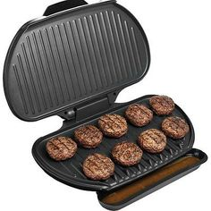 George Foreman 144 Sq In Family Size Electric Grill Large Champ Indoor Griller * Read more at the image link.