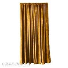 These velvet curtains are great. It looks like it's covering a stage, or something like it. The gold is a great color, and would match our living room really well!