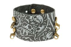 Wide Cuff - Embossed Black - Lenny and Eva