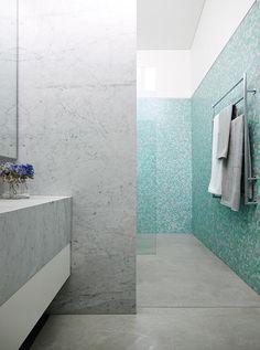Tile wall & sink room separation (Arent & Pyke Pavilion House)