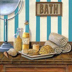 Imágenes decoupage baño   Aprender manualidades es facilisimo.com