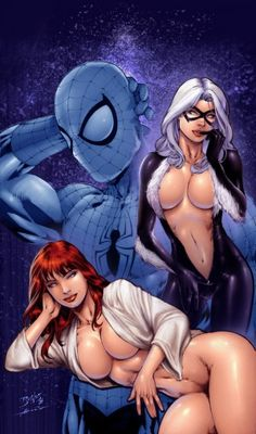 Spiderman, Mary Jane and Black Cat
