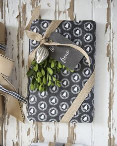 Free Printable Chalkboard Wrapping Paper and Tags
