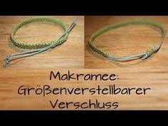 Der Verschluss ist passend zu allen Makrameebändern und man kann ihn auch bei a… The closure is suitable for all macrame bands and you can also use it on other bracelets. As you create a macrame band, you see in me … Macrame Jewelry, Macrame Bracelets, Diy Jewelry, Armband Diy, Armband Tattoo, Tiffany & Co., Micro Macrame, Diy Projects For Teens, Diy Necklace