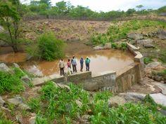 Sand storage dam in Chigamanda, Tete Province