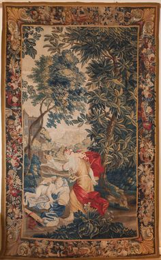 Magnificent Flemish Tapestry c.1710 view it on our website http://www.juliaboston.com/tapestry1971.html