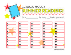 Free Printable Reading Chart   FREE Printable Summer Reading Chart   Ltf crafts
