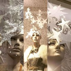 WEBSTA @ rockingpaperscissors - More Paper Star headdresses I created for Fenwicks beautiful Christmas windows #paper#paperart#papersculpture #paperstars #headdress #paperheaddress #fenwickbrentcross #fenwickswindow #visualdisplay #windowdisplay #christmaswindows #christmas#christmasstars #star#whitechristmas