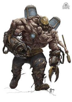 "scifi-fantasy-horror: ""by Daniel Zrom "" Monster Concept Art, Fantasy Monster, Monster Art, Arte Horror, Horror Art, Creature Feature, Creature Design, Fantasy Creatures, Mythical Creatures"