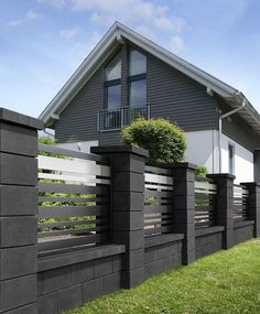 53 The Best Fence Design Ideas That You Can Try in - Amenagement Jardin Recup House Fence Design, Modern Fence Design, Modern Gates, Garden Design, Tor Design, Nest Design, Compound Wall Design, Privacy Fence Designs, Backyard Fences
