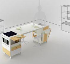 small kitchen furniture design with minimum space