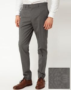 ASOS Smart skinny suit pant in dogtooth
