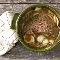 Cider Braised Brisket. Looks wonderful for a cold winter's day!