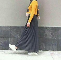 New fashion hijab style casual Ideas Islamic Fashion, Muslim Fashion, Modest Fashion, Hijab Fashion, Fashion Outfits, Fashion Muslimah, Fashion Fashion, Casual Hijab Outfit, Hijab Chic