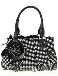 hounds tooth bag minus the flower