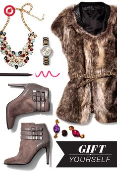 Check glam off your Christmas list: From faux-fur vests and buckled booties to watches and eyeshadow palettes, this season's coolest trends are surprisingly easy to pull off.