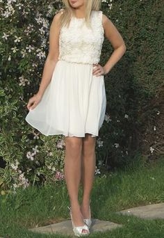 JOHN ZACK CREAM PARTY DRESS - DRESSES FOR WEDDING GUESTS