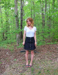 Denim Rosari Skirt
