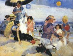 Martha Walter (American Impressionist, 1875–1976) At The Beach